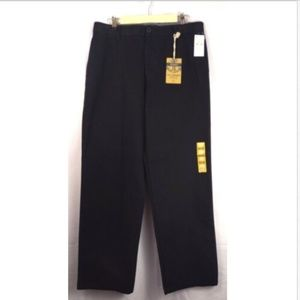 Dockers black flat front Marina dress pants 34/32